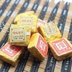 云南普洱熟茶03年料迷你小金砖沱茶叶瘦身养胃小沱茶 特级散装茶-淘宝网
