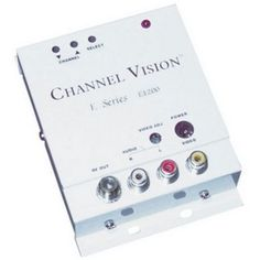CHANNEL VISION E-1200 Micro Digital Modulator by Channel Vision. $72.32. E-1200 is the finest miniature digital RF modulator available today and accepts one audio/video input for modulation onto the channel of your choice. Channel Vision's digital circuitry provides for simple installation and years of trouble-free performance.. Save 28% Off!