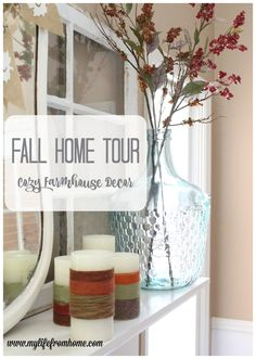 Fall Decor. Fall Home Tour.Fall-home-tour-cozy-farmhouse-decor-autumn-fall-decor-seasonal-decorating-fall-decorating-decor-home-tour
