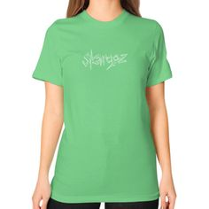 Unisex T-Shirt (on woman), 'Skargoz Logo'