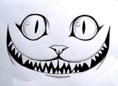 Le Chat des Merveilles   #dessin #crayon #drawing #AliceinWonderland #cat #smile