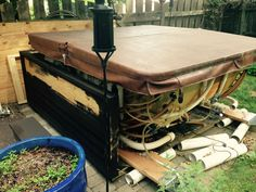 EZ Lifter Hot Tub Cover Lift allows for easy hot tub cover removal ...