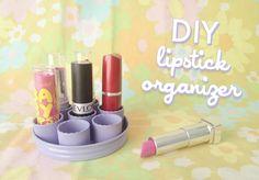 Scathingly Brilliant: Lipstick organizer DIY