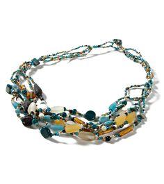 Bali 6 Strand Multi-stone Beaded Necklace