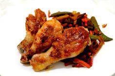 Pulpe+de+pui+la+Dry+Cooker Tandoori Chicken, Chicken Wings, Cooker, Meat, Ethnic Recipes, Food, Eten, Meals, Diet