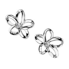 Hot Diamonds - Paradise Open Petal Stud Earrings - Earrings