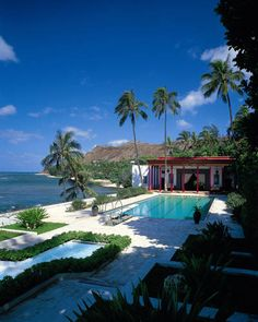 A view of the Playhouse (a poolhouse that served as guest quarters) at Shangri La, Doris Duke's estate in Honolulu.