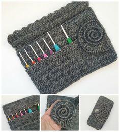 Ammonite Crochet Hook Roll Pattern :http://www.lookatwhatimade.net/crafts/yarn/crochet/ammonite-crochet-hook-roll-pattern/