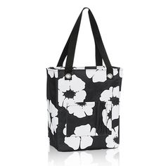 Tall Organizing Tote in White Poppy   Thirty-One Gifts (with pink heart embroidery - $10 customer special in February!!!)