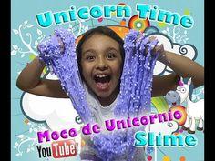 DIY Slime Moco de Unicornio / taller de sarita (how to make slime with w...