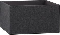 charcoal felt storage box in storage | CB2