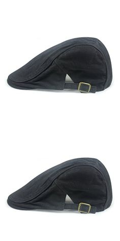 Gumstyle FASHION Men Womens Duckbill Ivy Cap Golf Driving Flat Cabbie Newsboy Beret Hat Solid Color Black