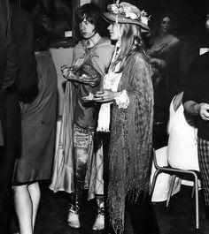 Marianne Faithfull & Mick Jagger.