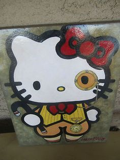 Bid on ebay $200 or Best offer search Hello kitty Steampunk Art