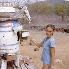 Pam at the Post Office Bay, Galapagos