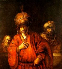 Rembrandt Harmensz. van Rijn 1606 – 1669     Haman Prepares to Honour Mordecai     oil on canvas (127 × 116 cm) — ca. 1665