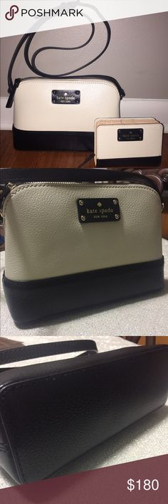 Kate Spade Color Block Crossbody I have too many purses so selling this one. In almost brand new condition. I have matching wallet listed separately if you're interested in bundling for better deal. This is 100% authentic! No stains and from pet/smoke free home. kate spade Bags Crossbody Bags