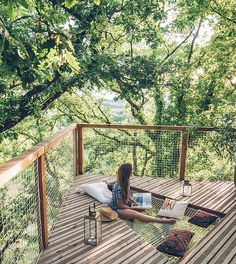 This has made us want to pick up that book we've been meaning to finish and sink into a hammock among the trees. 📷: from their stay at Pella Roca in Tarn-et-Garonne, France. Link in the bio. August Bank Holiday, Bank Holiday Weekend, Pavilion Architecture, Sustainable Architecture, Residential Architecture, Contemporary Architecture, Weekend France, Canopy And Stars, Unusual Homes
