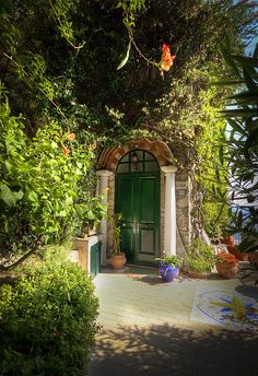 A lovely entrance to a house in Anacapri on the island of Capri ,ITALY