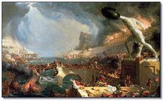 The burning of Alexandria.