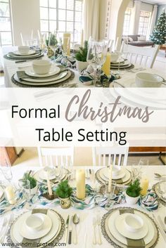 Earlier this week, I shared some ideas on an informal Christmas table. Today we are going to look at a more formal table setting.