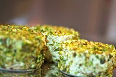 Pistachio Sansrival by Heny Sison Meringue: 7 Eggwhites ¾ t. Cream of Tartar 1 C. Sugar 1 C. Coarsely chopped pistachio Buttercream: ¾ C. Sugar ½ C. Water 9 Egg Yolks ¾ C. Unsalted Butter ¾ …