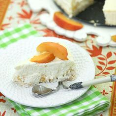 A delicious and creamy lower fat cheesecake studded with fresh peaches will be your new favorite dessert.