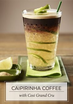 Caipirinha coffee Sip on this refreshing combination of Nespresso Grand Cru, zesty notes of lemon, and hints of cane sugar for your next espresso moment. This Caipirinha Coffee recipe is also ideal for serving to pool party guests. Coffee Menu, Great Coffee, Coffee Cafe, Coffee Break, Coffee Drinks, Iced Coffee, Coffee Barista, Starbucks Coffee, House Coffee