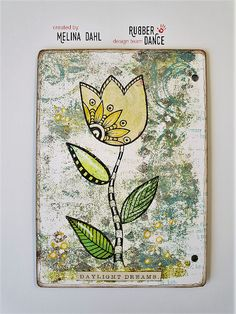 * Rubber Dance Blog *: Simplicity Sunday - Art journal page with gelli print collage by Melina