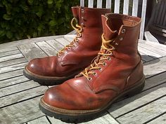Red Wing Boots. Model 899 now discontinued. My first pair of Red Wings still going strong.