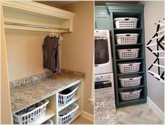 """Explore our website for even more info on """"laundry room storage diy cabinets"""". It is an exceptional spot to find out more. Basement Laundry, Basement Storage, Closet Storage, Laundry Area, Small Storage, Diy Storage, Interior Design Living Room, Living Room Designs, Laundry Design"""