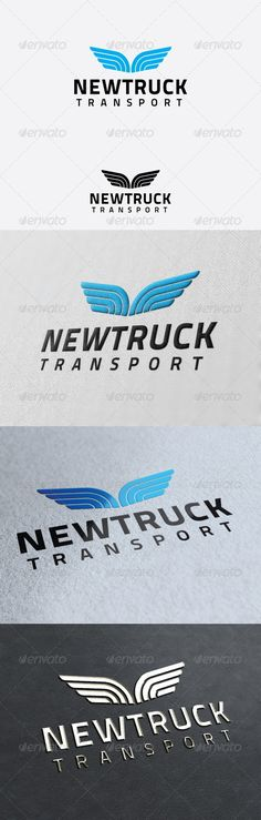 Newtruck Transport Logo Template — Photoshop PSD #van #management • Available here → https://graphicriver.net/item/newtruck-transport-logo-template/2923061?ref=pxcr