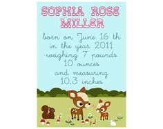 Cute Baby Birth Date Collage Print $14.00