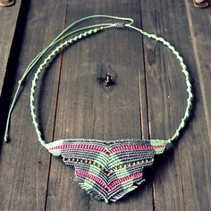 Macrame boho indie necklace