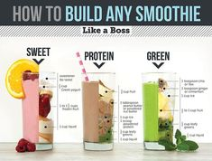 Protein shake recipes 546272629784574450 - Sweet, Green and Protein: How to build any smoothie like a boss Source by hcfleury Apple Smoothies, Easy Smoothies, Homemade Smoothies, Almond Milk Smoothies, Almond Butter Smoothie, High Protein Smoothies, Energy Smoothies, How To Make Smoothies, Weight Loss Smoothies