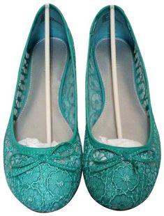 8d0050a057a Xappeal Teal Lolla Rockabilly Ballet Flats Size US 10 Regular (M