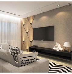 By @vanessaguerraarquitetura #hometheater #salatv #living  #arquitetoradeinteriores #arquitetura #archloversu2026u201d Living Room Ideas Tv ...