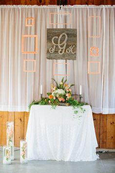Simple Wedding Ceremony Backdrop