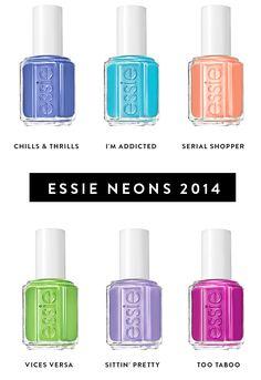 Essie Neon 2014. I'm addicted. <3 summer nails