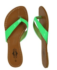 Colored flip flops. I have these in black and red. Lost my teal ones riding my bike lol! Love these for summer.