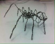 araña en alambre