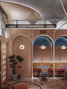 Completed in 2018 in Hong Kong (SAR). Images by Johnathon Leijonhufvud. John Anthony is a contemporary dim sum restaurant located in Hong Kong. The concept for the restaurant is drawn from the historical figure John. Layout Design, Design Café, Cafe Design, Café Restaurant, Restaurant Seating, Restaurant Design, Restaurant Bathroom, Restaurant Interiors, Commercial Design