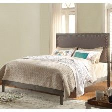 Normandy Upholstered Bed in Steel Gray