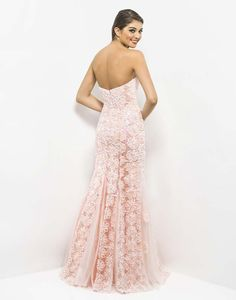 back side Blush dress 9582 | 2013