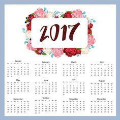 2017 projeto do calendário Vetor grátis                                                                                                                                                                                 Mais