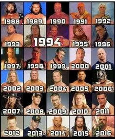 What year were born in the royal rumble?