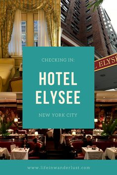 Checking In: Hotel Elysèe in New York City, New York