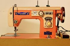 Vintage Sewing Machine VIsetti 1950s Valentines by PoetryofObjects, $150.00