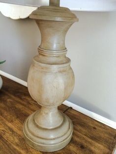 A Junkchick Life: Pottery Barn Inspiration:- took an old golden lamp and turned it into an upscale beauty. She shared what she used.