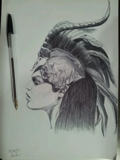 realistic girl with bic